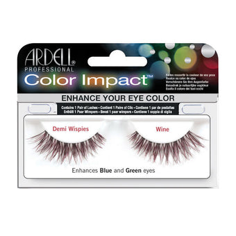 Ardell Color Impact Demi Wispies - Ardell Color Impact Demi Wispies - Wine | Camera Ready Cosmetics - 4