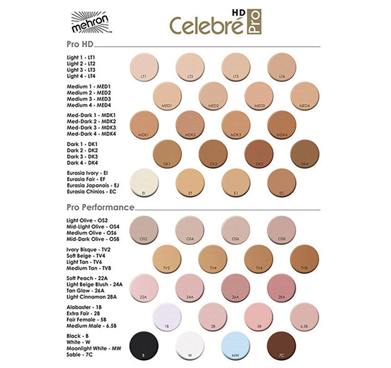 Mehron Celebre Pro HD Cream Foundation  | Camera Ready Cosmetics