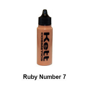Kett Hydro Foundation Ruby Series - Single 1oz - Ruby 7 (H-R7) | Camera Ready Cosmetics - 5