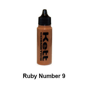 Kett Hydro Foundation Ruby Series - Single 1oz - Ruby 9 (H-R9) | Camera Ready Cosmetics - 6