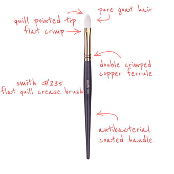 alt Smith Cosmetics 235 Flat Quill Crease Brush