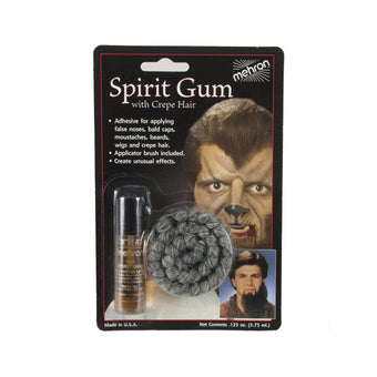 alt Mehron Spirit Gum with Crepe Hair Grey (118-A/CHGY)