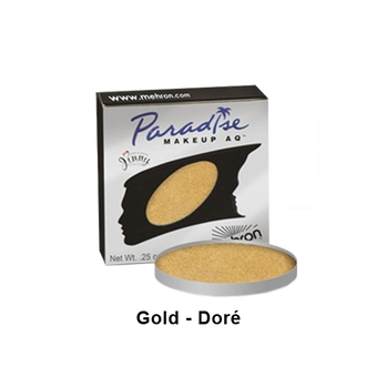 Mehron Paradise Cake Makeup AQ - Single REFILL - Gold - Dore (801-BGD) | Camera Ready Cosmetics - 16
