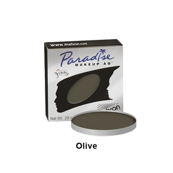 Mehron Paradise Cake Makeup AQ - Single REFILL - Olive (801-OL) | Camera Ready Cosmetics - 27