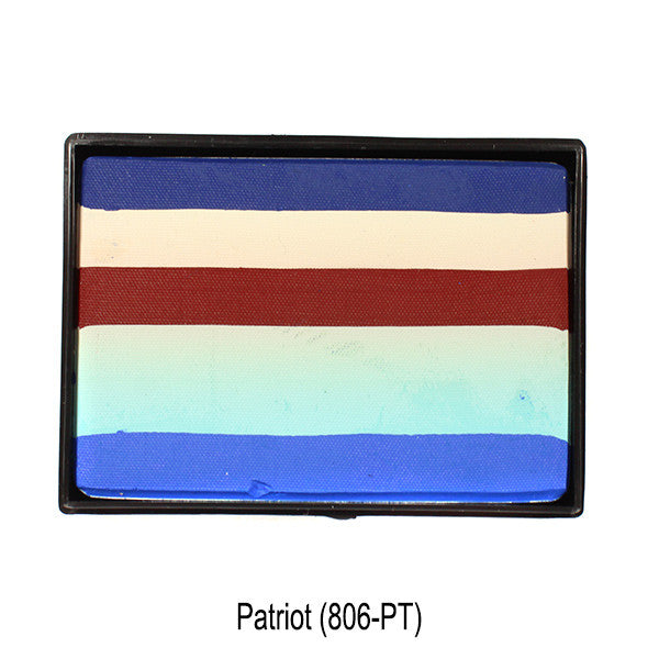 Mehron Paradise Cake Makeup AQ Prisma BlendSet - Patriot (806-PT) | Camera Ready Cosmetics - 8