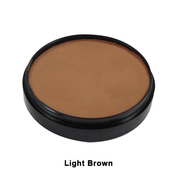 Mehron Paradise Cake Makeup AQ - Pro Size - Light Brown (800-LBR) | Camera Ready Cosmetics - 22