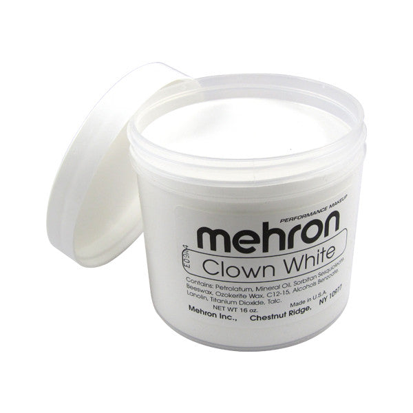alt Mehron Clown White 16oz. (454gm.)