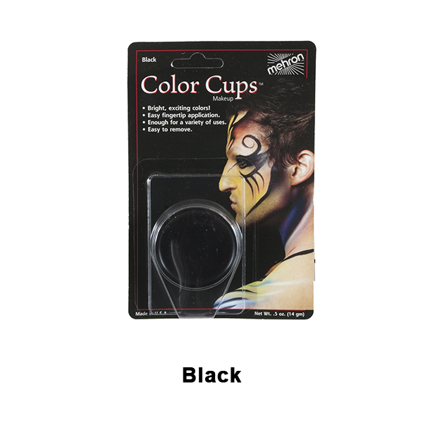 Mehron Color Cups - Black (CCC-B) | Camera Ready Cosmetics - 3