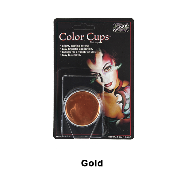 Mehron Color Cups - Gold  (CCC-GD) | Camera Ready Cosmetics - 6