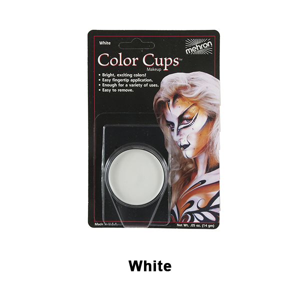 Mehron Color Cups - White (CCC-W) | Camera Ready Cosmetics - 14