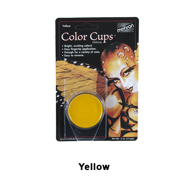 Mehron Color Cups - Yellow (CCC-Y) | Camera Ready Cosmetics - 16