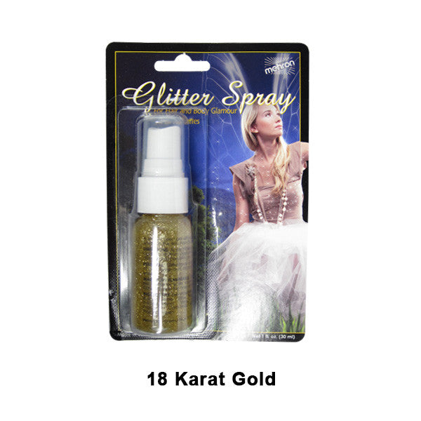 Mehron GlitterSpray (USA Only) - Gold (228C-GD) | Camera Ready Cosmetics - 4