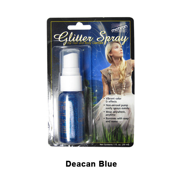Mehron GlitterSpray (USA Only) - Blue (228C-BL) | Camera Ready Cosmetics - 2