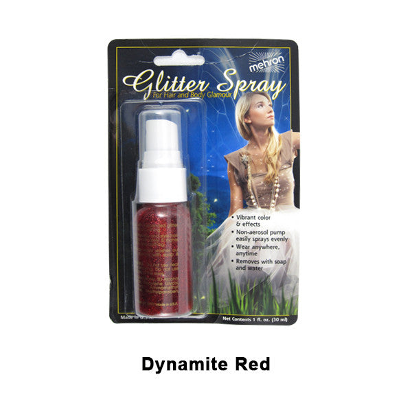 Mehron GlitterSpray (USA Only) - Red (228C-R) | Camera Ready Cosmetics - 5