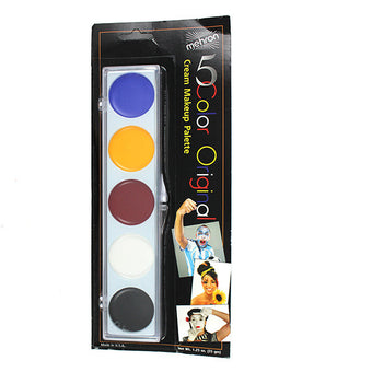 Mehron ProFACE 5-Color Palette - Mehron ProFACE 5-Color Palette w/Yellow Kit | Camera Ready Cosmetics - 4