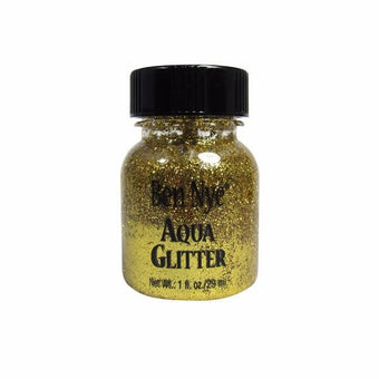 Ben Nye Aqua Glitter - Gold AG1 | Camera Ready Cosmetics - 7