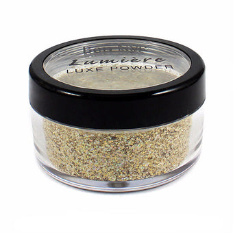 Ben Nye Lumiere Luxe Sparkle Powder - Iced Gold (LXS-2) | Camera Ready Cosmetics - 7