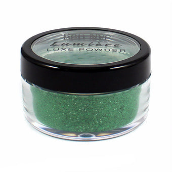 Ben Nye Lumiere Luxe Sparkle Powder - Mermaid Green (LXS-9) | Camera Ready Cosmetics - 8