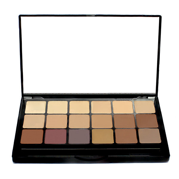 Graftobian Hi-Def Glamour Creme Super Palette - Neutral (30246) | Camera Ready Cosmetics - 4