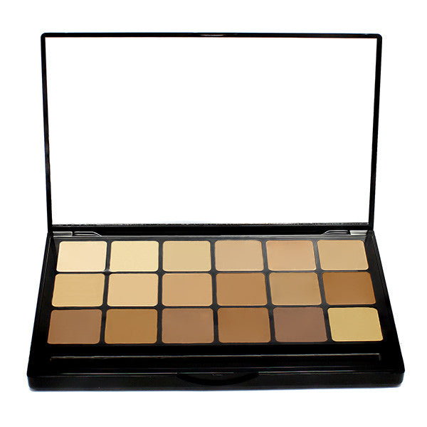 Graftobian Hi-Def Glamour Creme Super Palette - Warm (30245) | Camera Ready Cosmetics - 5