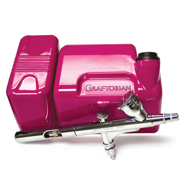 Graftobian Walk-Around Airbrush Package (USA Only) - Hot Pink (20045GA-PK) | Camera Ready Cosmetics - 2