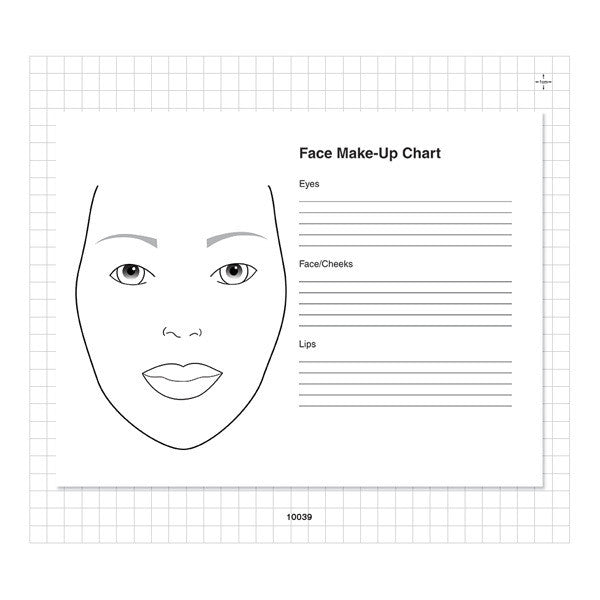 Camera Ready 50 Sheet Face Chart Pad -  | Camera Ready Cosmetics