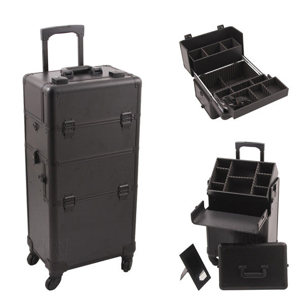 JUST CASE - HIKER PRO 4-WHEEL MAKEUP CASE HK6501 (USA ONLY) - Black - HK6501PPAB | Camera Ready Cosmetics - 2