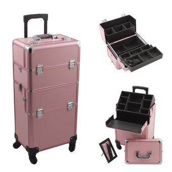 JUST CASE - HIKER PRO 4-WHEEL MAKEUP CASE HK6501 (USA ONLY) - Pink - HK6501PPPK (Limited Availability) | Camera Ready Cosmetics - 5