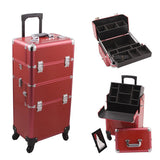 JUST CASE - HIKER PRO 4-WHEEL MAKEUP CASE HK6501 (USA ONLY) - Red Croc - HK6501CRRD | Camera Ready Cosmetics - 6