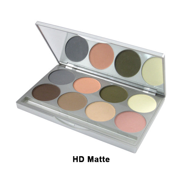 Graftobian Eye Shadow Palette (Limited Quantity) - HD Matte 8-Color Palette (30510) | Camera Ready Cosmetics - 2