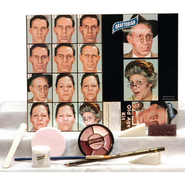 Graftobian Complete Halloween Kit - Old Age Kit (88853) | Camera Ready Cosmetics - 10