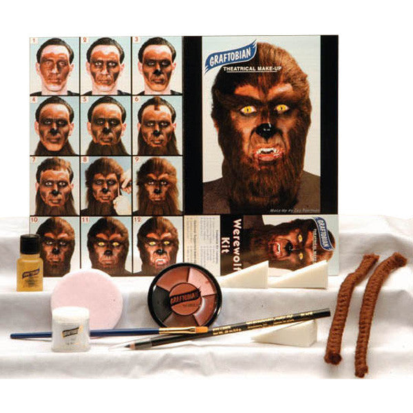 Graftobian Complete Halloween Kit - Werewolf Kit (88856) | Camera Ready Cosmetics - 16