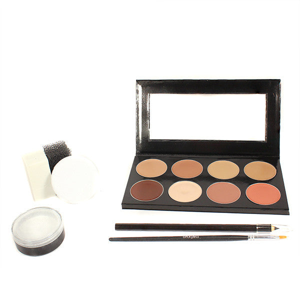 Mehron Mini-Pro Student Makeup Kit w/ CreamBlend Base - Medium/Olive Medium (KMO-NM) | Camera Ready Cosmetics - 3