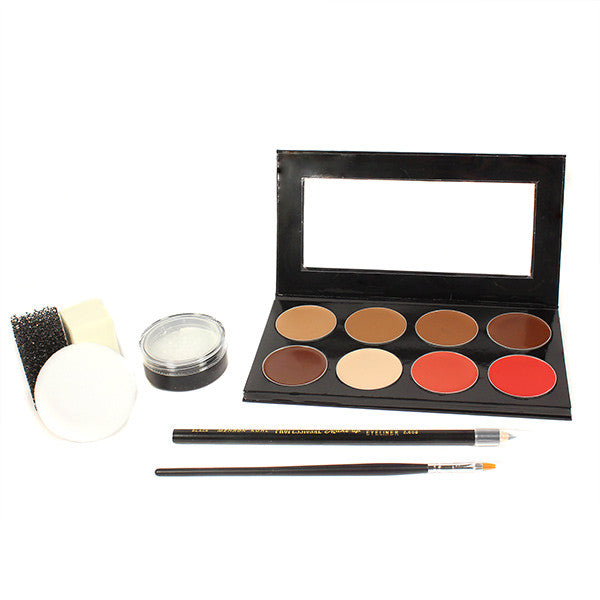 Mehron Mini-Pro Student Makeup Kit w/ CreamBlend Base - Medium Dark/Dark (KMP-ND) | Camera Ready Cosmetics - 4