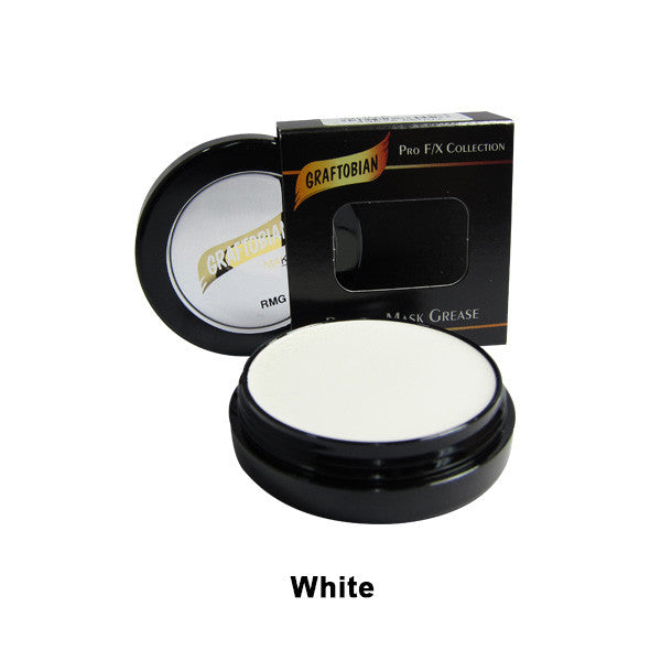 Graftobian Rubber Mask Grease (RMG) - White (86002) | Camera Ready Cosmetics - 48