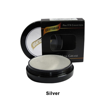 Graftobian Rubber Mask Grease (RMG) - Silver (86013) | Camera Ready Cosmetics - 42