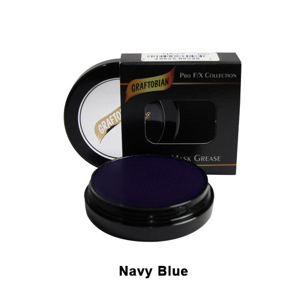Graftobian Rubber Mask Grease (RMG) - Navy Blue (86048) | Camera Ready Cosmetics - 34