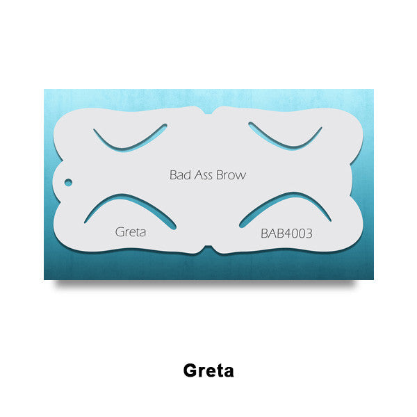 Graftobian Bad Ass Airbrush Brow Stencils (LIMITED AVAILABILITY) - Greta (78451) | Camera Ready Cosmetics - 5