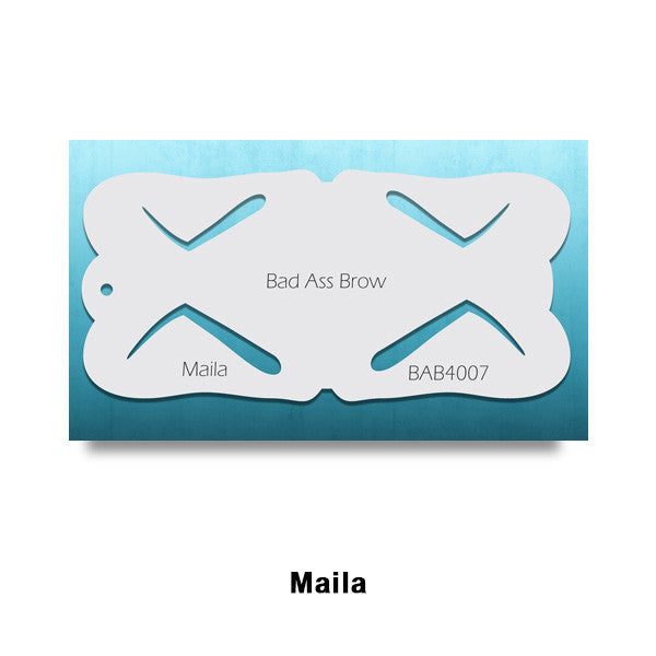 Graftobian Bad Ass Airbrush Brow Stencils (LIMITED AVAILABILITY) - Maila (78454) | Camera Ready Cosmetics - 6