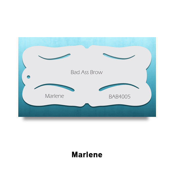 Graftobian Bad Ass Airbrush Brow Stencils (LIMITED AVAILABILITY) - Marlene (78453) | Camera Ready Cosmetics - 7