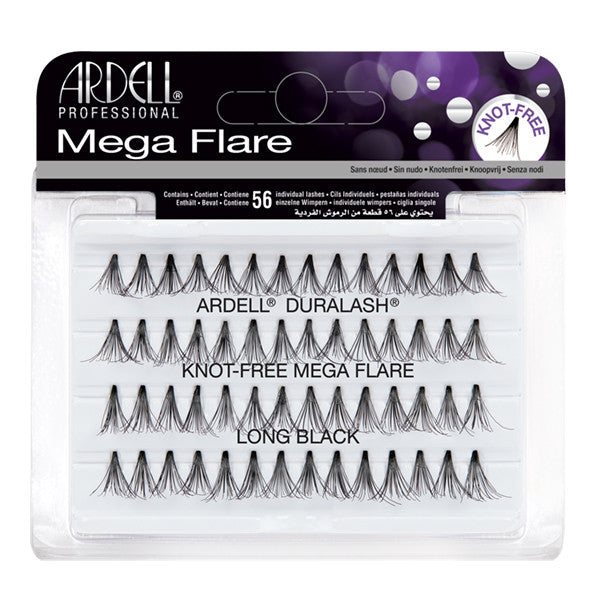 Ardell Mega Flare Individuals Knot-Free Long Black (65281)  | Camera Ready Cosmetics