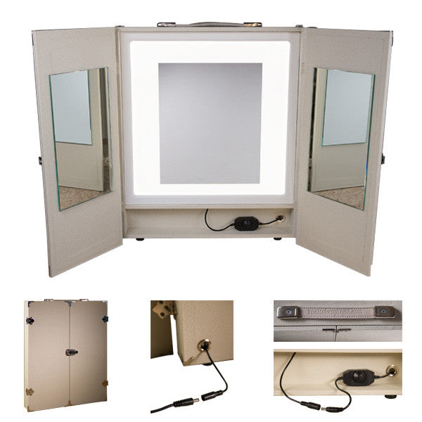 THE MAKEUP LIGHT - PORTABLE VANITY (USA ONLY) - Ivory | Camera Ready Cosmetics - 4