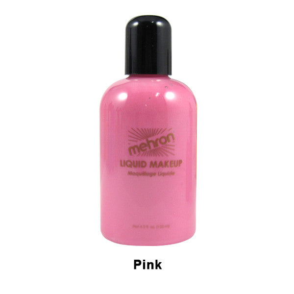 alt Mehron Liquid Makeup for Face Body and Hair 4.5oz / Pink