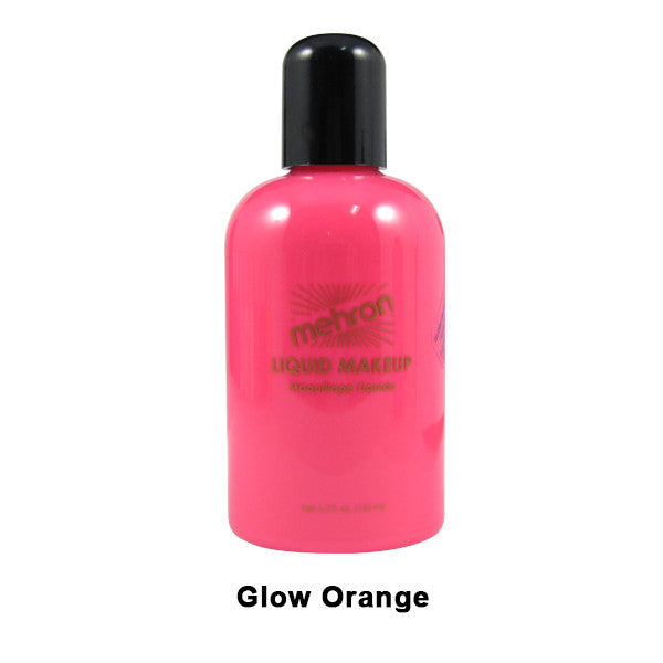 Mehron Liquid Makeup for Face, Body and Hair - 4.5oz / Glow Orange | Camera Ready Cosmetics - 13
