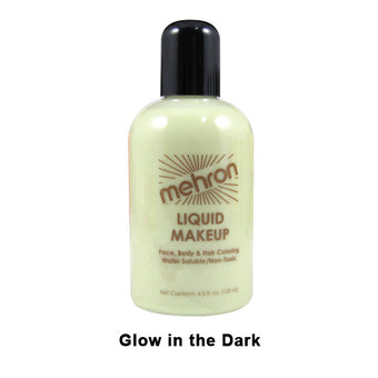 alt Mehron Liquid Makeup for Face Body and Hair 4.5oz / Glow in the Dark
