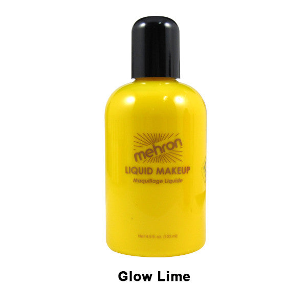 Mehron Liquid Makeup for Face, Body and Hair - 4.5oz / Glow Lime | Camera Ready Cosmetics - 11