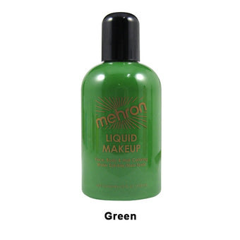 alt Mehron Liquid Makeup for Face Body and Hair 4.5oz / Green