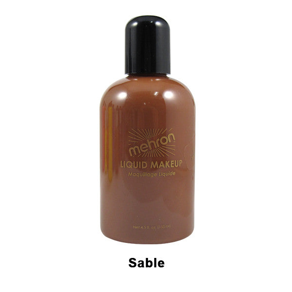 Mehron Liquid Makeup for Face, Body and Hair - 4.5oz / Sable | Camera Ready Cosmetics - 32