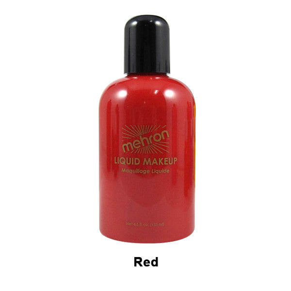 Mehron Liquid Makeup for Face, Body and Hair - 4.5oz / Red | Camera Ready Cosmetics - 30
