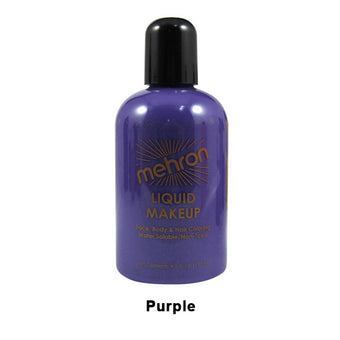 alt Mehron Liquid Makeup for Face Body and Hair 4.5oz / Purple
